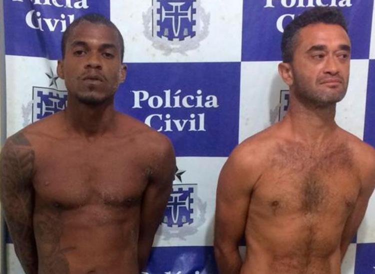A polícia encontrou um saco de maconha com a dupla - Foto: Divulgação | SSP