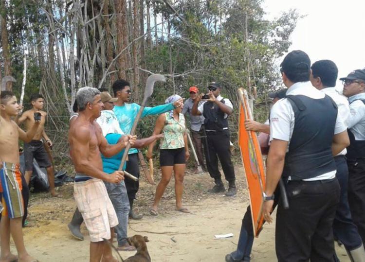 Grupo entrou em confronto com seguranças após despejo por decisão judicial - Foto: ataque, veracel, grupo, prisao, policia