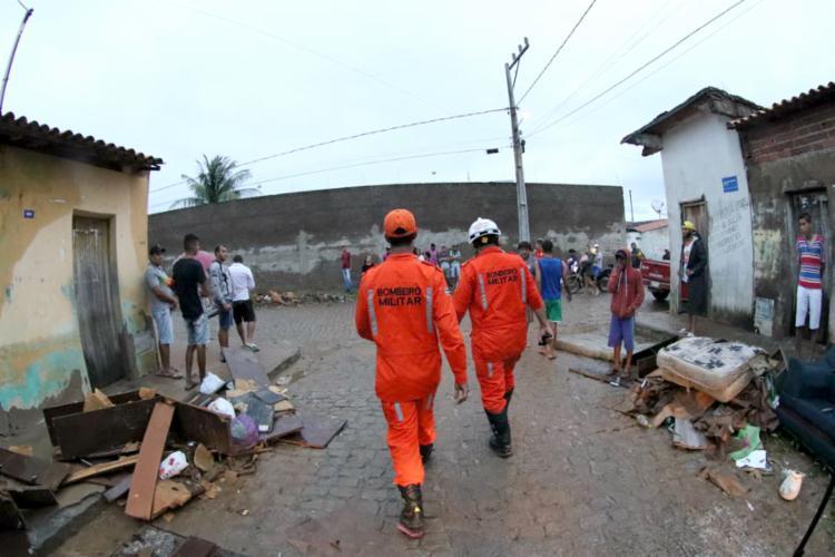 Aproximadamente 500 famílias foram desalojadas