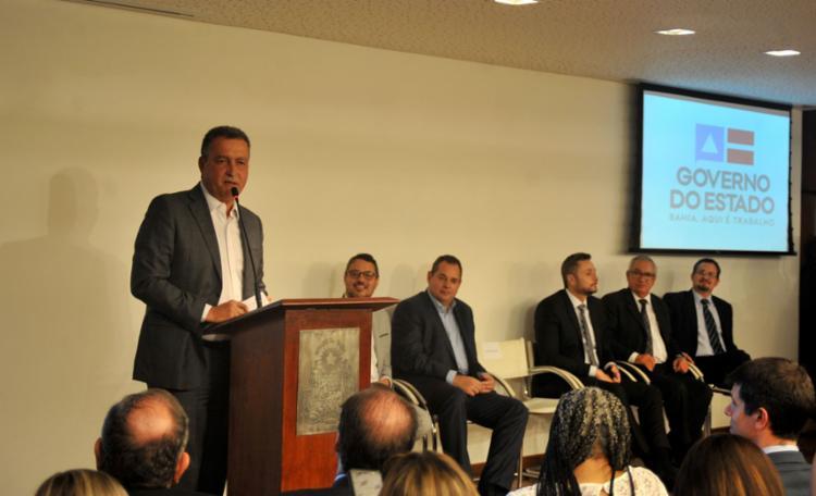 Governador Rui Costa explicou que o acordo prevê redução do ICMS, que terá alíquota variando de 3% a 12% - Foto: Felipe Iruatã l Ag. A TARDE