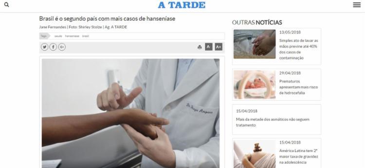 Matéria aborda o diagnóstico e o tratamento da doença - Foto: Reprodução