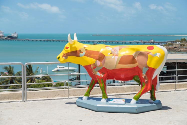 Durante o evento, artistas poderão se inscrever em concurso para pintar as vacas - Foto: Divulgação | CowParade Brasil