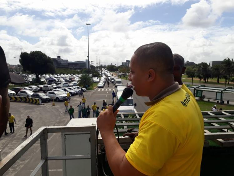 Protesto é conta PL 13.855, que impede a regulamentação da atividade - Foto: Luan Borges I Ag. A TARDE