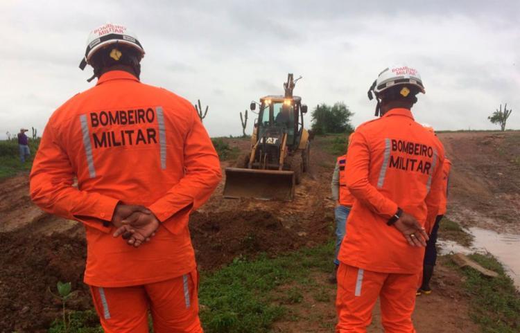 Grupo está na cidade desde o rompimento da Barragem do Quati, em Pedro Alexandre, no último dia 12 - Foto: Divulgação | SSP