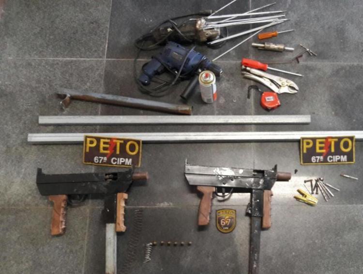 Em um último flagrante, duas armas foram apreendidas na tarde da última quinta-feira, 4. - Foto: Divulgação | SSP