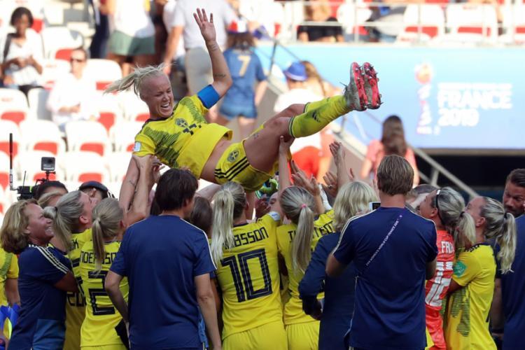 Escandinavas aproveitaram início avassalador e se fecham na defesa para evitar empate - Foto: Valery Hache l AFP