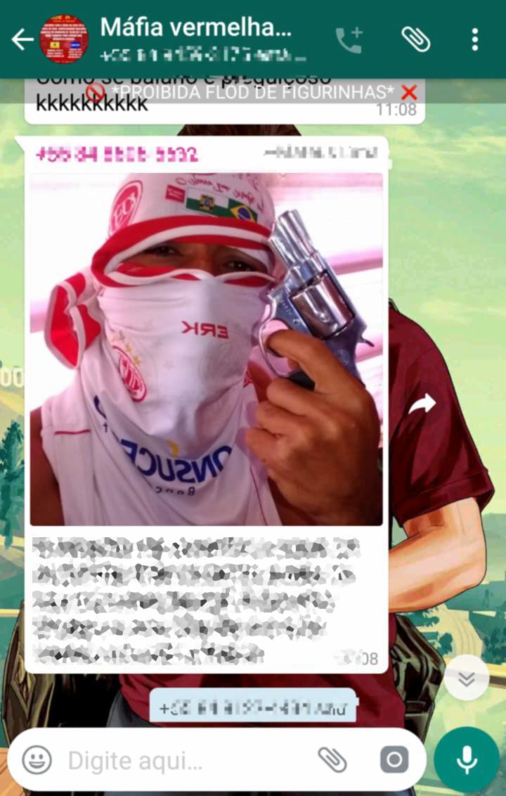 Integrante da torcida organizada Máfia Vermelha ameaçava torcedores do Jacuipense