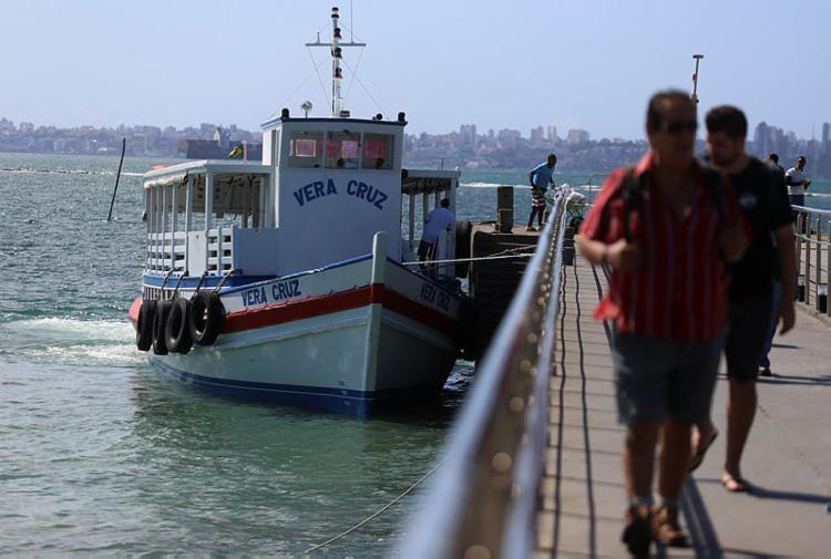 Oito embarcações operam com saídas a cada 30 minutos - Foto: Joá Souza | Ag. A TARDE