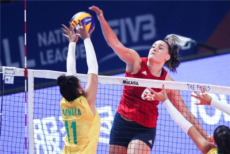 EUA ganha de virada por 3 sets a 2 - Foto: Reprodução I FIVB