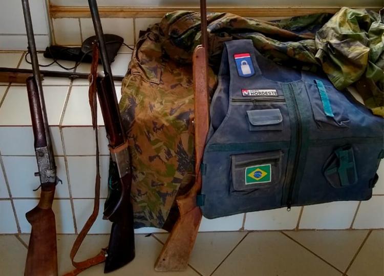 Materiais apreendidos foram encontrados em uma casa na localidade conhecida como Copixaba - Foto: Divulgação | SSP-BA