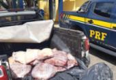 PRF apreende 150 quilos de carne bovina em Feira de Santana | Foto: Divulgação I PRF