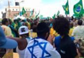 Manifestantes protestam contra o STF e a favor da Lava Jato na Barra | Foto: Reprodução | Bahia Direita