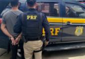 Suspeito de crimes em Pernambuco é preso na BR-116 | Foto: Divulgação | PRF-BA