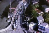 Vans de transporte alternativo fazem carreata em Salvador | Foto: Reprodução | TV Record