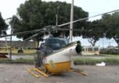 Piloto se fere após helicóptero da PRF tentar pouso | Reprodução | Rede Bahia