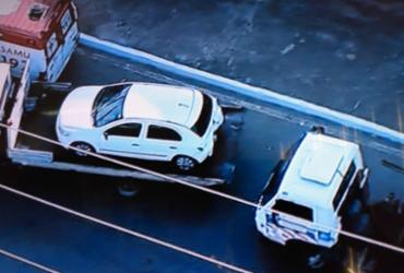 Acidente com carro de passeio deixa um ferido no Acesso Norte | Reprodução | Record TV