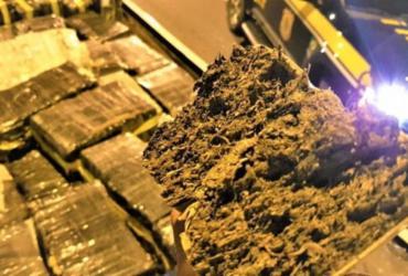 PRF apreende duas toneladas de maconha em caminhão na BR-116 | Reprodução | PRF