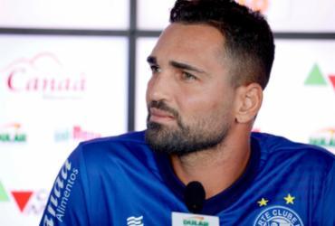 Artilheiro do Bahia na temporada, Gilberto espera dificuldades contra o CSA   Felipe Oliveira   EC Bahia