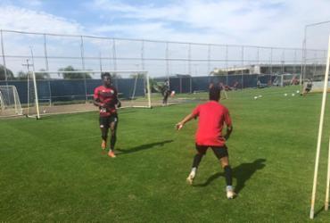 Com Jordy Caicedo, Vitória treina no CT do Grêmio em Porto Alegre | Divulgação | EC Vitória
