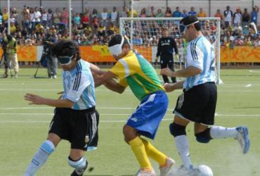 Futebol de 5 do Brasil chega invicto a Lima | Marcello Casal Jr l Agência Brasil