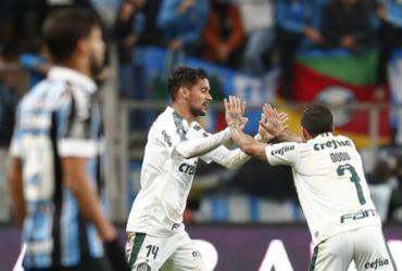 Com golaço de Scarpa, Palmeiras abre vantagem sobre o Grêmio na Libertadores | Itamar Aguiar l AFP