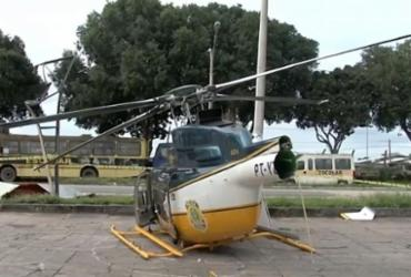 Helicóptero da PRF cai no extremo sul do estado e piloto fica ferido | Reprodução | Rede Bahia