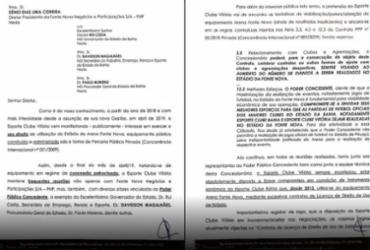 Documentos divulgados pelo presidente do Vitória |
