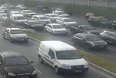 Três acidentes deixam trânsito lento em diferentes vias de Salvador   Reprodução   Twitter   Transalvador