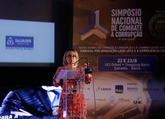 Em Salvador, ex-coordenadora da Lava Jato defende aprovação do Pacote Anticrime | Adilton Venegeroles | Ag. A TARDE
