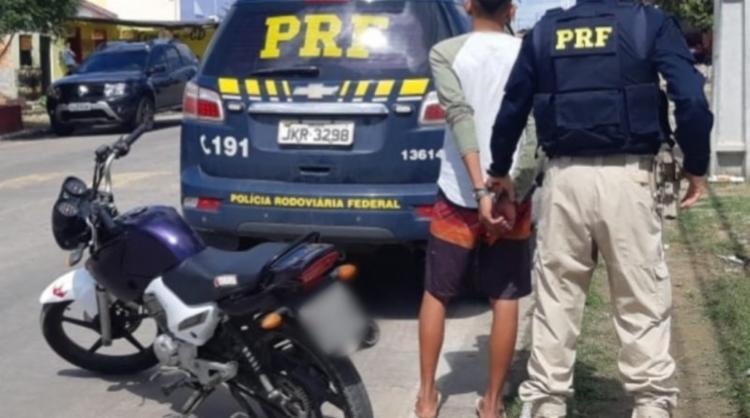 Menor informou que não possuía Carteira Nacional de Habilitação (CNH), nem documentos do veículo - Foto: Divulgação | PRF