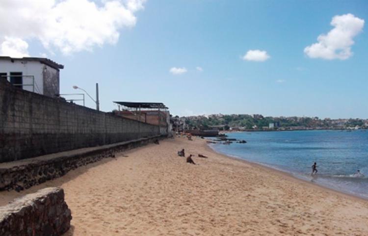 Vítima se afogou em praia na região do Largo de Roma - Foto: Reprodução