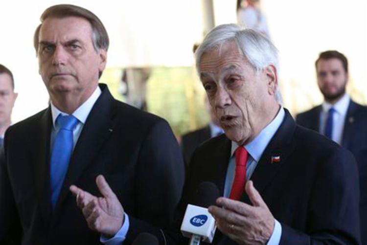 Bolsonaro e Piñera trataram de questões ambientais - Foto: Antonio Cruz | Agência Brasil