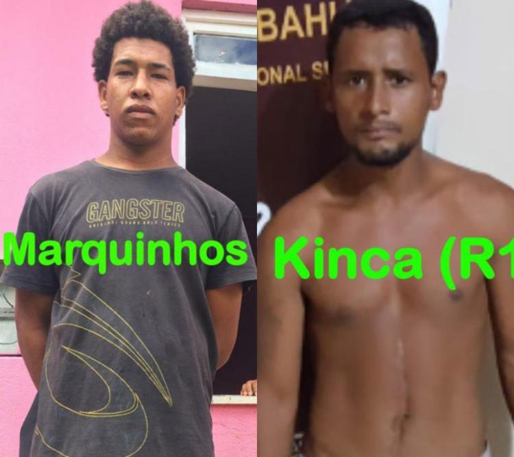 Suspeitos fugiram de Gandu e se esconderam na RMS - Foto: Divulgação | SSP-BA