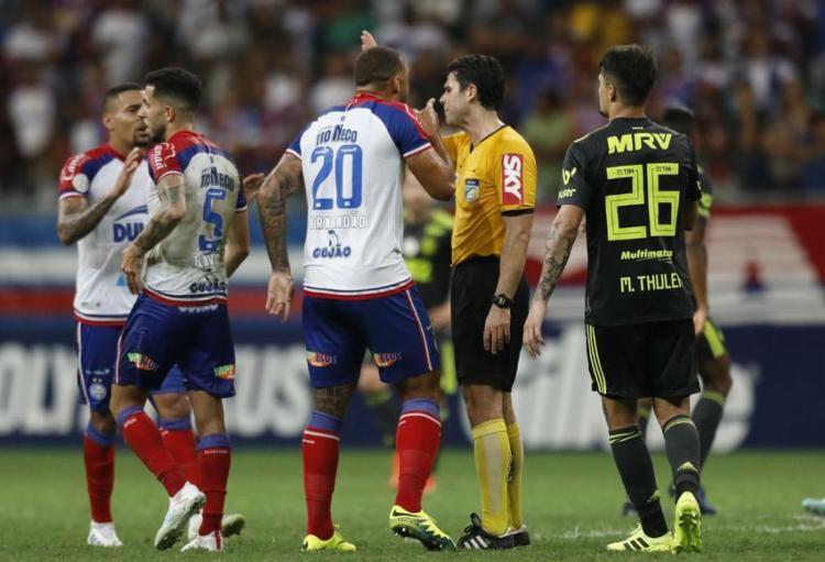 Atacante negou ter ofendido árbitro durante partida contra o Flamengo - Foto: Adilton Venegeroles l Ag. A TARDE l 4.8.2019