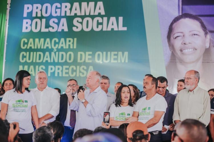 O valor do benefício será de R$100 ou R$150 para ser utilizado nos supermercados e farmácias do município - Foto: Thiago Canuto | Prefeitura de Camaçari