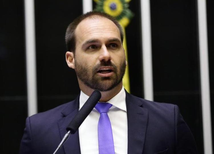A indicação de Eduardo Bolsonaro a embaixada ainda tem que passar pelo Senado - Foto: Michel Jesus | Câmara dos Deputados