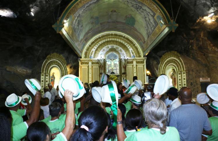Além da procissão, celebrações ocorrem entre 5h e 22h - Foto: Uelder Negrão (Acervo Santuário) l Divulgação