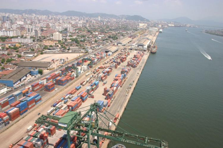 No Porto de Santos serão leiloados dois terminais - Foto: Divulgação   Portal Governo Brasil