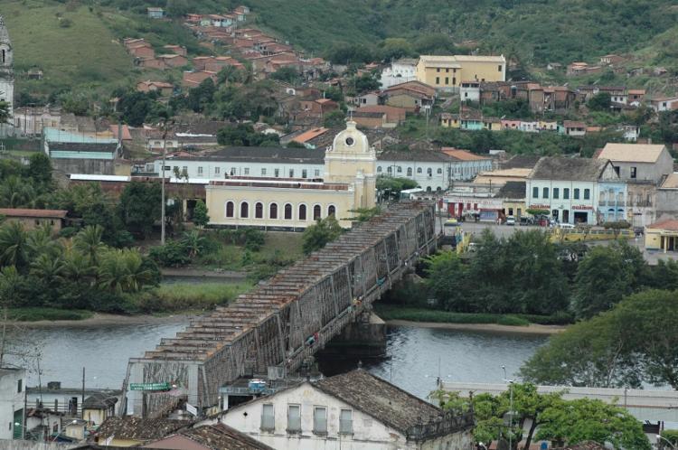 Ponte Dom Pedro II é a principal ligação entre Cachoeira e São Félix - Foto: Divulgação | Iphan