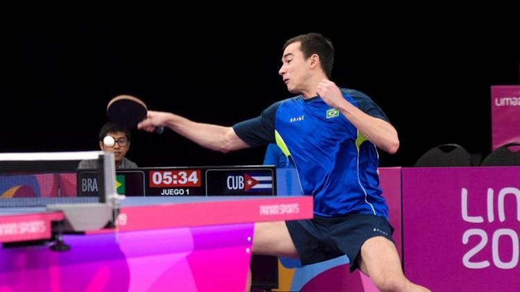 Número 6 do mundo, Calderano assegurou, com a medalha de ouro, a vaga na Olimpíada de Tóquio - Foto: Washington Alves l COB