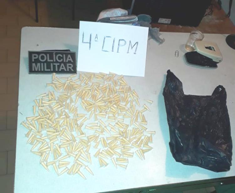 Essa não é a primeira vez que o suspeito é flagrado com drogas - Foto: Divulgação   SSP