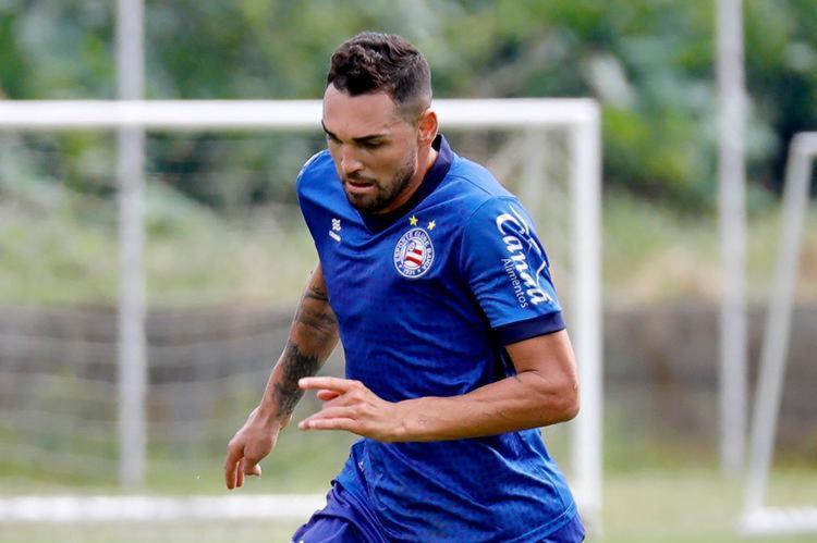 Avaliação médica constatou apenas um edema na coxa direita do atacante - Foto: Felipe Oliveira   EC Bahia
