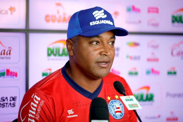 O técnico do Bahia espera surpreender o Galo e conquistar o primeiro triunfo como visitante - Foto: Felipe Oliveira | EC Bahia