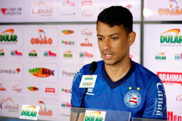 Atacante destacou o momento favorável vivido pela equipe no Brasileirão - Foto: Felipe Oliveira   EC Bahia