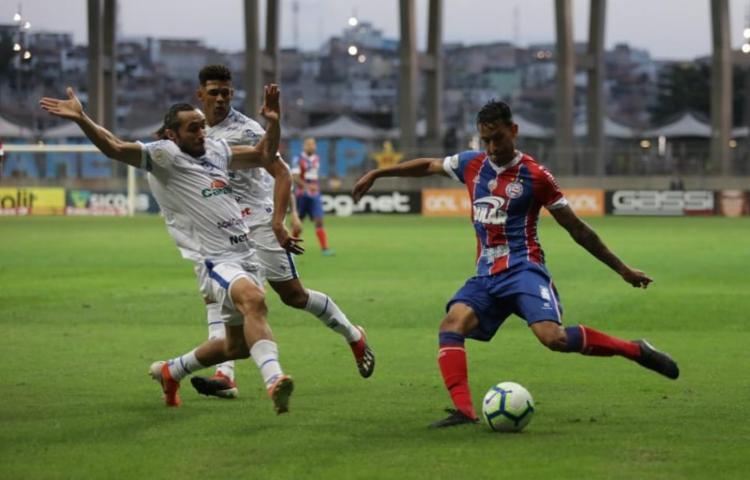 Bahia marcou único gol da partida nos últimos minutos do segundo tempo - Foto: Uendel Galter   Ag. A TARDE
