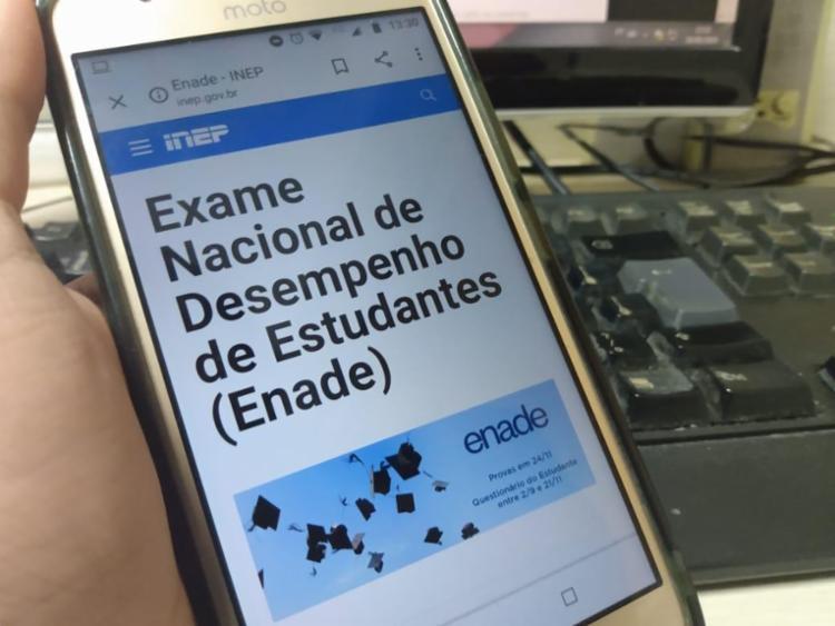 Acesso ao questionário do estudante é feito pelo Sistema Enade   Foto: Keyla Pereira   Ag. A TARDE - Foto: Keyla Pereira   Ag. A TARDE