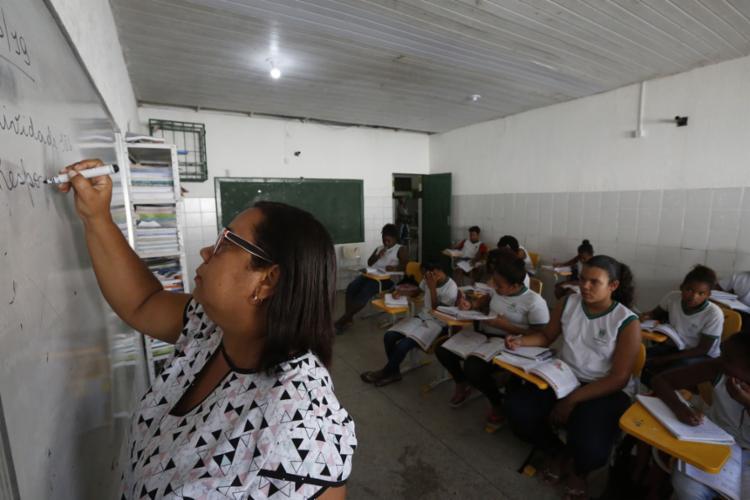 Escola Dom Francisco Leite teve melhor nota do Ideb nos anos finais - Foto: Rafael Martins l Ag. A TARDE