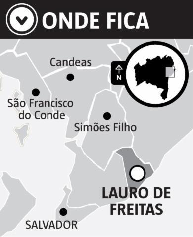 Localização de Lauro de Freitas