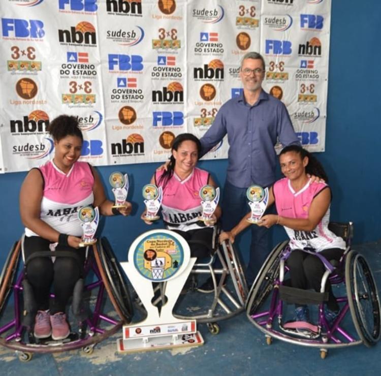 Em julho, a Aabane de basquete 3 x 3 de Cadeira de Rodas conquistou, pela primeira vez, a Copa do Nordeste