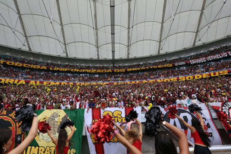 A nota de esclarecimento foi divulgada após o presidente do Vitória, Paulo Carneiro criticar publicamente a Arena - Foto: Ulisses Dumas | Ag. BAPRESS